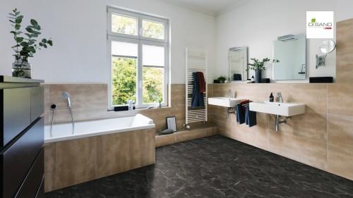 HARO Piazza 4V Marble Anthrazit stone texture Design Padló