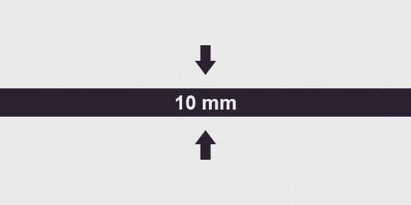 vastagság 10 mm