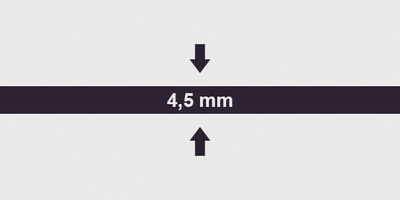 vastagság 4,5 mm