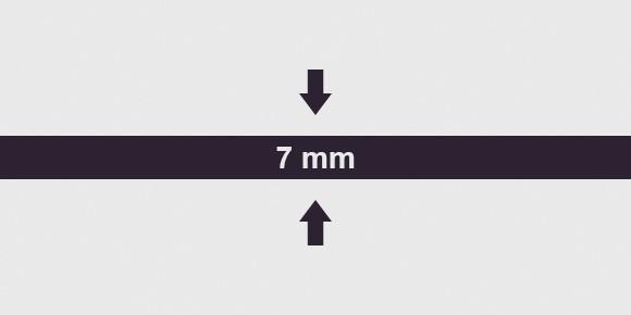 vastagság 7 mm