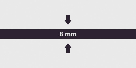 Vastagság 8 mm